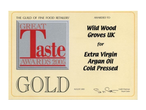 Argan Oil wins Gold Great Taste Award